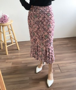 <br> [JH] Flower motif Skirt <br> - Not returned or exchanged;