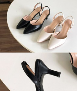 <br> Franc Basic Sling backs heel (5.5cm) <br><br>