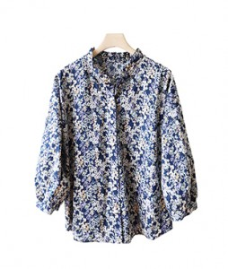 <br> Ezu Yu Flower Volume Blouse <br><br>