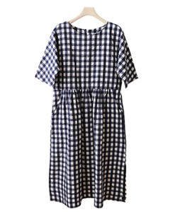 <br> Sweet Shearing Check Dress <br><br>