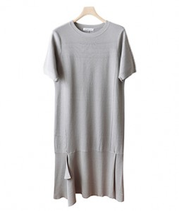 <br> Knit Dress Cool Hem Ruffle <br><br>