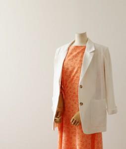 <br> Premium Jin Rami Linen Ivory Jacket <br> <b><font color=#253952>Outer 1st item</font></b>
