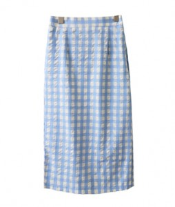 <br> High-heeled check Long H skirt <br> <b><font color=#253952>Skirt 4th item</font></b>