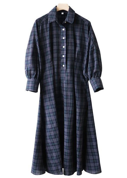 <br> Unique Unhair Check Dress <br> [Return can not be exchanged]