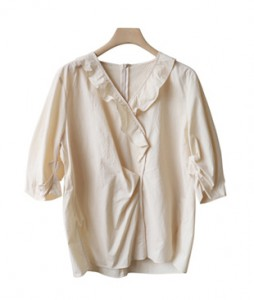 <br> Goro Shirring Blouse <br><br>