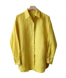 <br> Linen shirt neatly fashionable <br> <b><font color=#253952>4th place blouse</font></b>