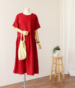 <br> Pretty Shearing Long Linen Dress <br><br>