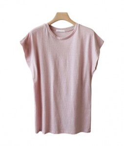 <br> Washing Cotton Cap Sleeves Tee <br><br>