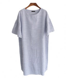 <br> My Shirring Stripe Dress <br><br>
