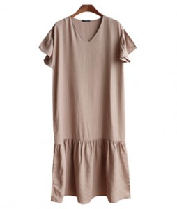 <br> Kelly V-neck Shirring Dress <br><br>