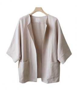 <br> Lina Open Linen Jacket <br> <b><font color=#253952>Outer 3</font></b>