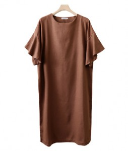 <br> feminine Freel Sleeve Linen Dress <br><br>
