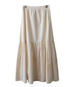 <br> Romantic Shirring Long Skirt <br><br>