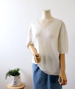 <br> Summer V-neck Basic Knit <br><br>