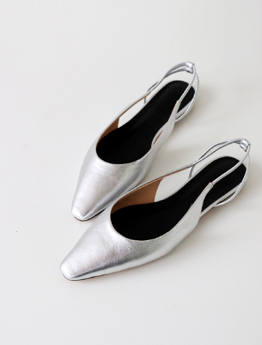 <br> Shuena Sling backs Flat (Cowhide) <br> [Return can not be exchanged]