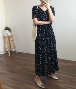 <br> [JH] Dot Banding Long Dress <br> - Not returned or exchanged;