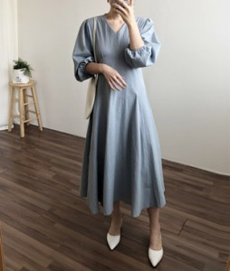 <br> [JH] bowknot Strap Long Dress <br> - Not returned or exchanged;