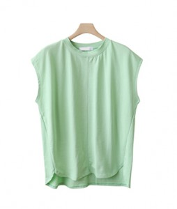 <BR> Middle line cap sleeve sleeveless shirts tee <BR><br>