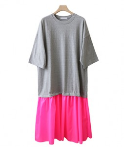 <br> Neon color combination Dress <br> - Not returned or exchanged;
