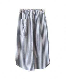 <br> Nu Stripe Button Skirt <br><br>