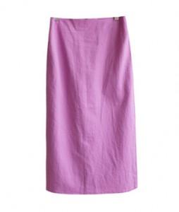 <br> Color Linen Rear Banding Skirt <br><br>