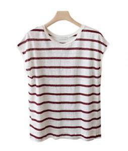 <br> Cool Linen cap sleeve T-shirt Tee <br><br>