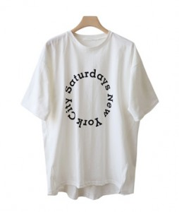 <br> Circle lettering Long Tee <br><br>