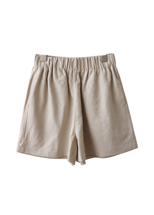 <br> Linen Banding Short Pants <br><br>