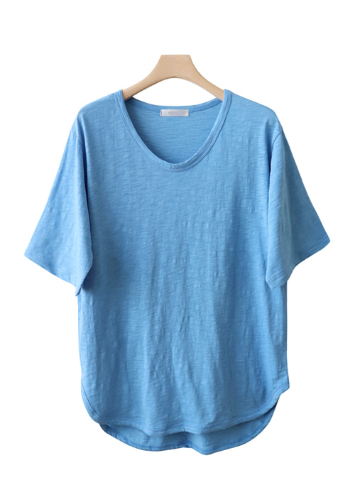 <br> Uneven hemmed sleeves Tee <br><br>