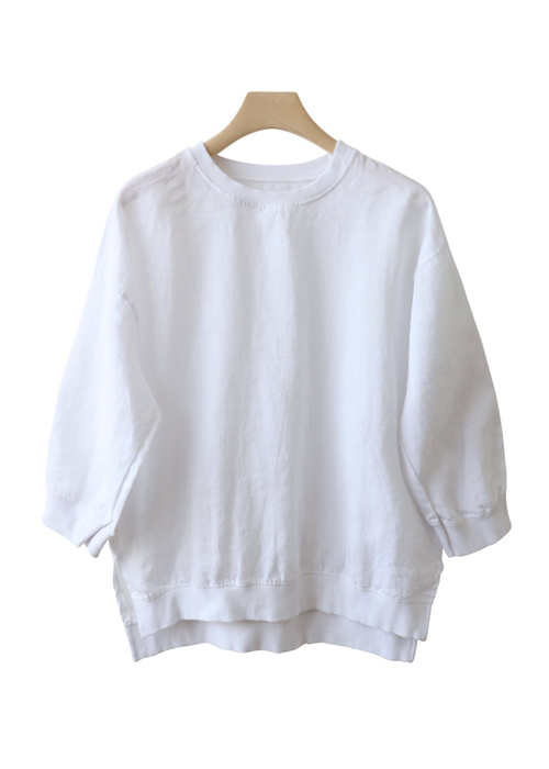 <br> Chevrolet Neck Part 7 Linen Blouse <br> [Return can not be replaced]
