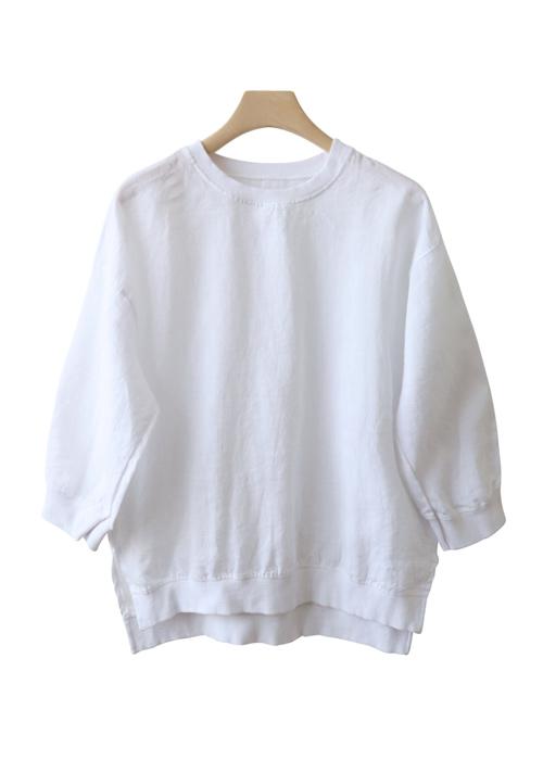 <br> Chevrolet Neck Part 7 Linen Blouse <br> <b><font color=#253952>The blouse fifth place product</font></b>