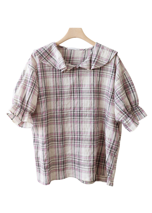 <br> Cutie Check Blouse <br> - Not returned or exchanged;