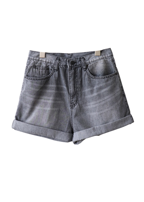 <br> Gray Part 3 Denim Pants <br><br>