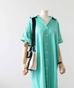 <br> Fresh Color Shirt Long Dress <br><br>