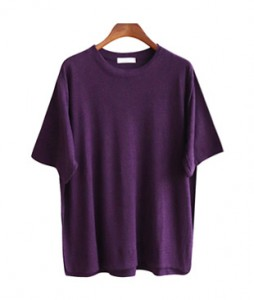 <br> Rounded hem Linen Tee <br><br>