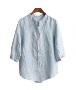 <br> China Neck Stripe Shirt <br><br>