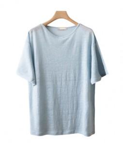 <br> feminine shoulder lappe Linen Tee <br><br>