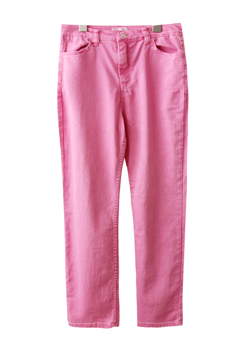 <br> Span Color Straight Pants <br> - Not returned or exchanged;