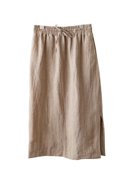 <br> Janzan Dangara One-Slit Linen Skirt <br><br>