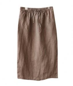 <br> One slit plain Linen Skirt <br><br>