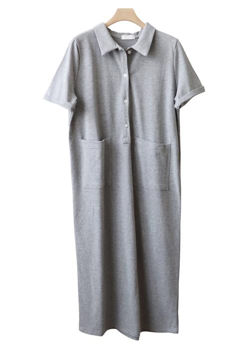 <br> Lauren Plain Kara Long Dress <br> [Return can not be replaced]