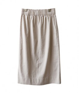 <br> Lin Linen Banding Skirt <br><br>