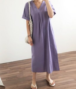 <br> Linen Long Dress <br><br>