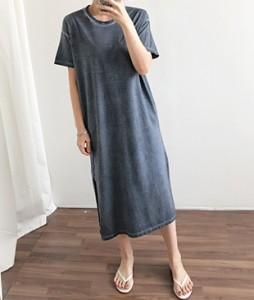 <br> Vintage Cotton Trim Long Dress <br><br>