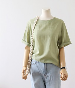 <br> Soft Linen Short-sleeve Blouse <br><br>