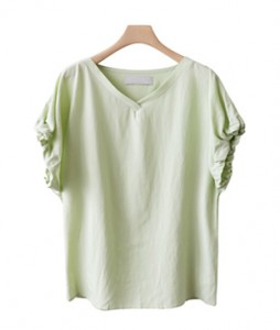 <br> Sleepless Banding Sleeves Blouse <br><br>