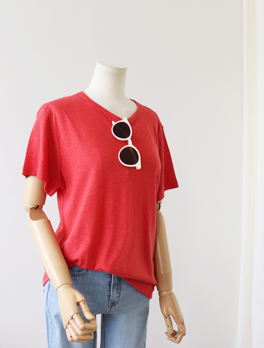 <br> JEFFI Linen Short-sleeve Tee <br><br>
