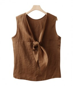 <br> Linen Sleeveless shirts Blouse <br><br>