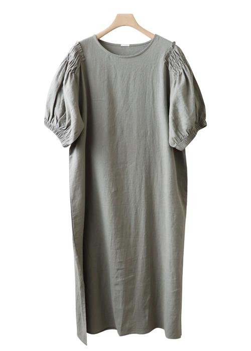 <br> Shoulder Point Linen Dress <br><br>