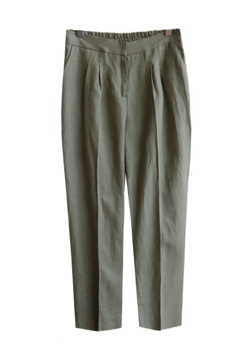 <br> Fit Pretty Herringbone Linen Pants <br> [Return can not be replaced]